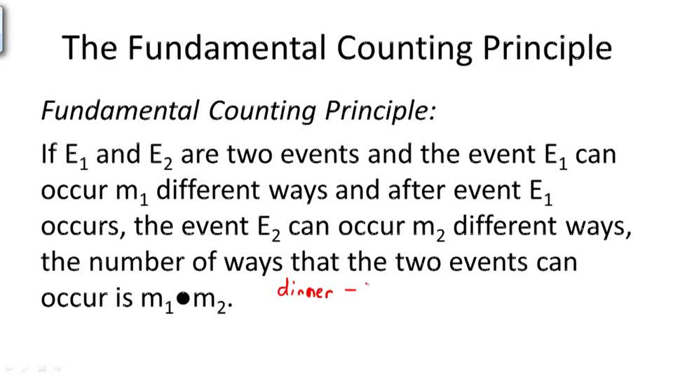 The Fundamental Counting Principle - Overview