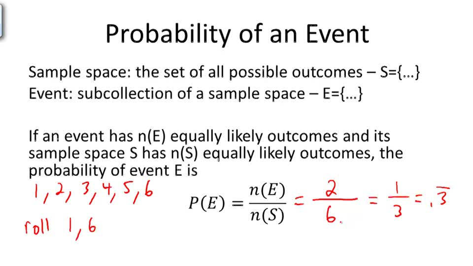 Probability of an Event - Overview