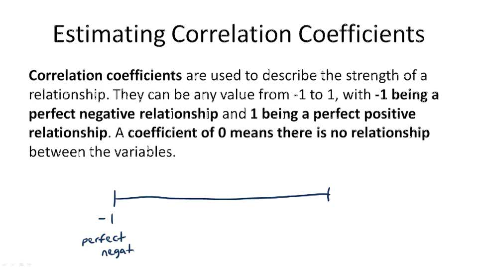 Estimating Correlation Coefficients - Overview
