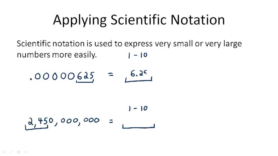 Applying Scientific Notation - Overview