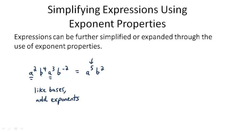 Simplifying Expressions Using Exponent Properties - Overview