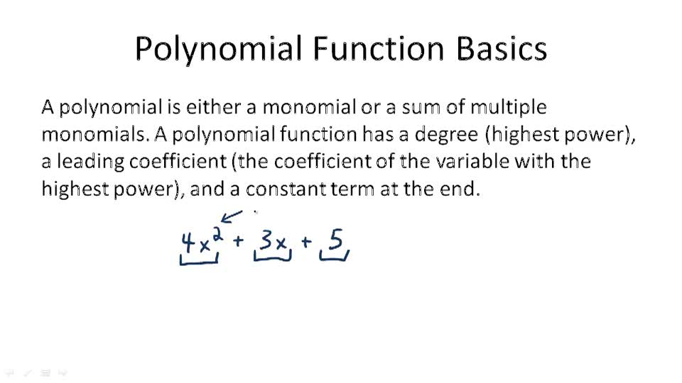 Polynomial Function Basics - Overview