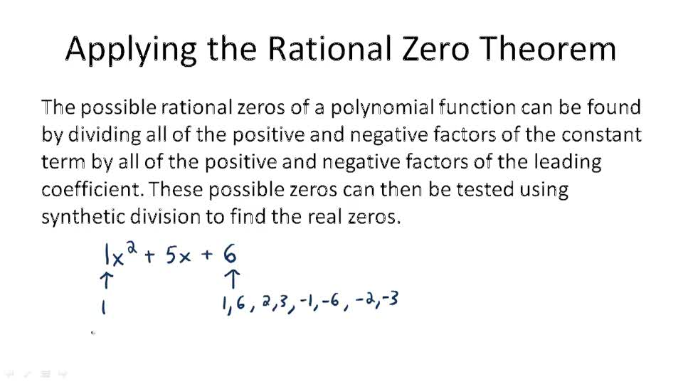 Applying the Rational Zero Theorem - Overview