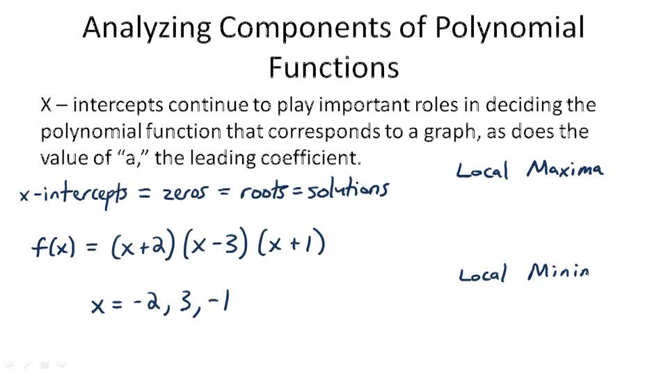 Analyzing Components of Polynomial Functions - Overview