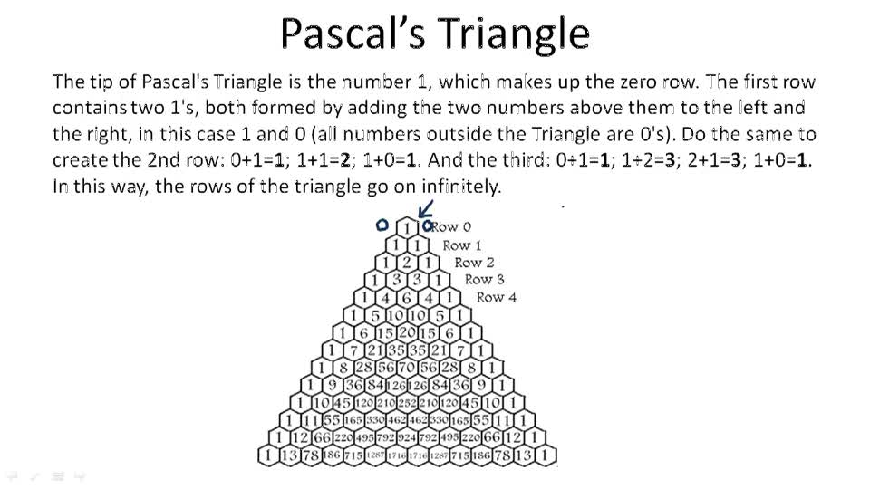 Pascal's Triangle - Overview