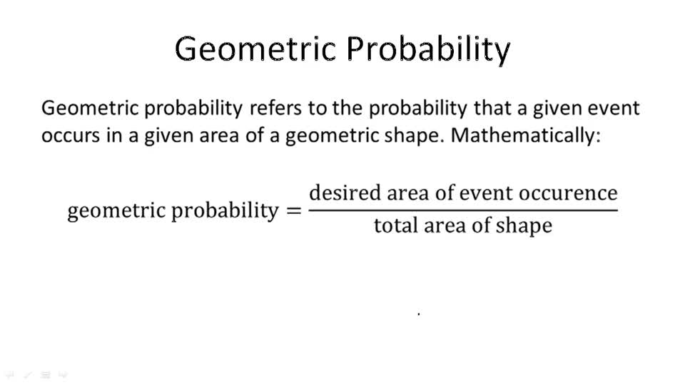 Geometric Probability - Overview