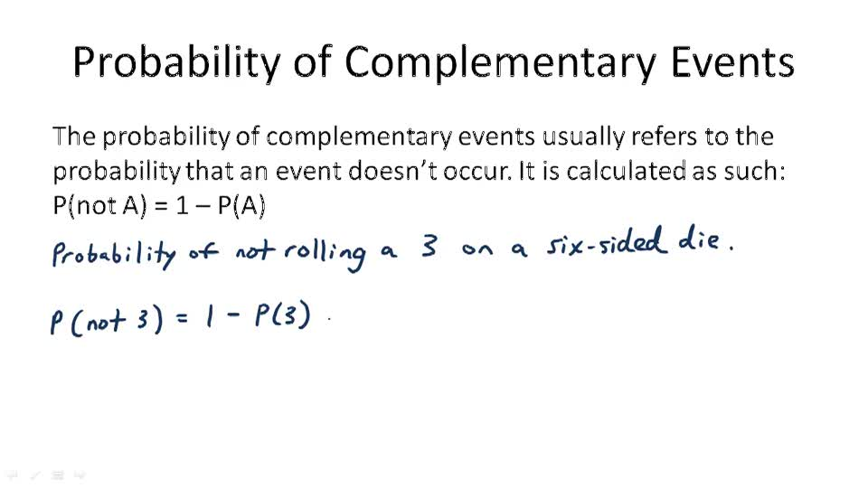 Probability of Complementary Events - Overview