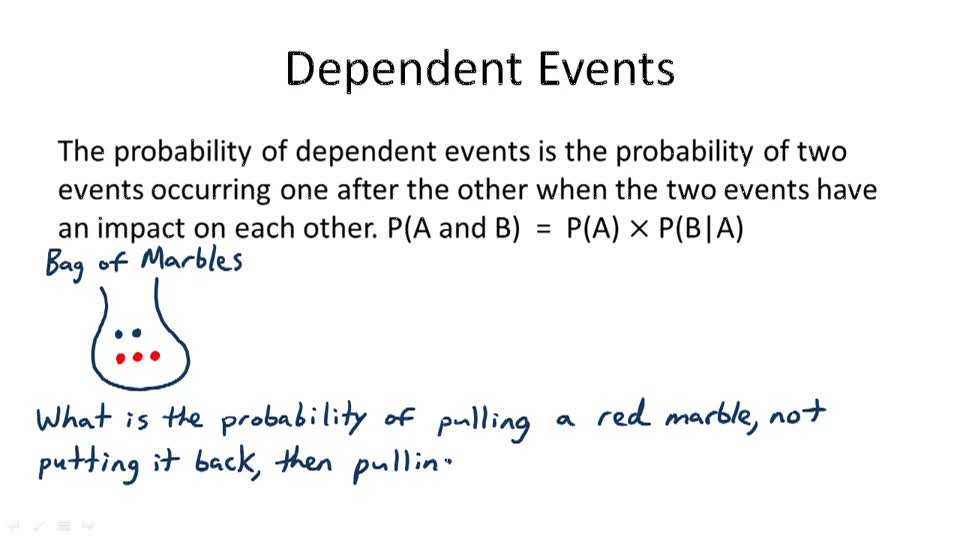 Dependent Events - Overview