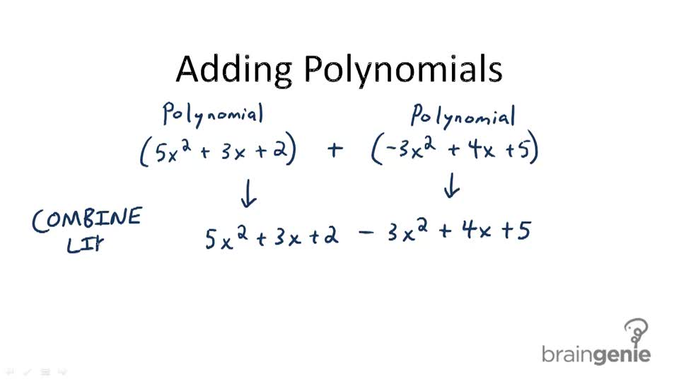 Adding Polynomials (Polynomials and Factoring) - Overview
