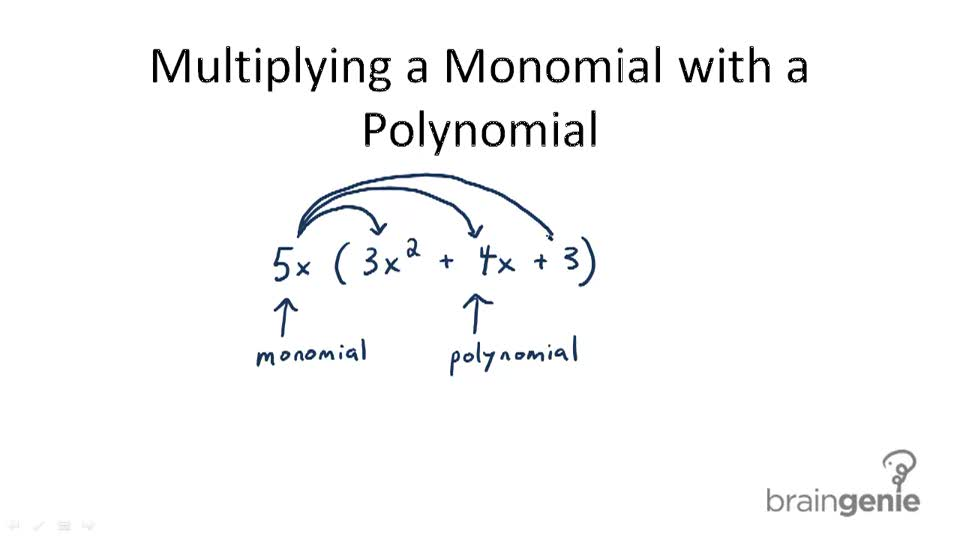 Multiplying a Monomial with a Polynomial - Overview