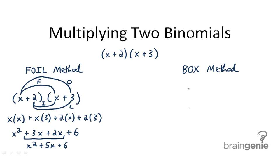 Multiplying Two Binomials - Overview