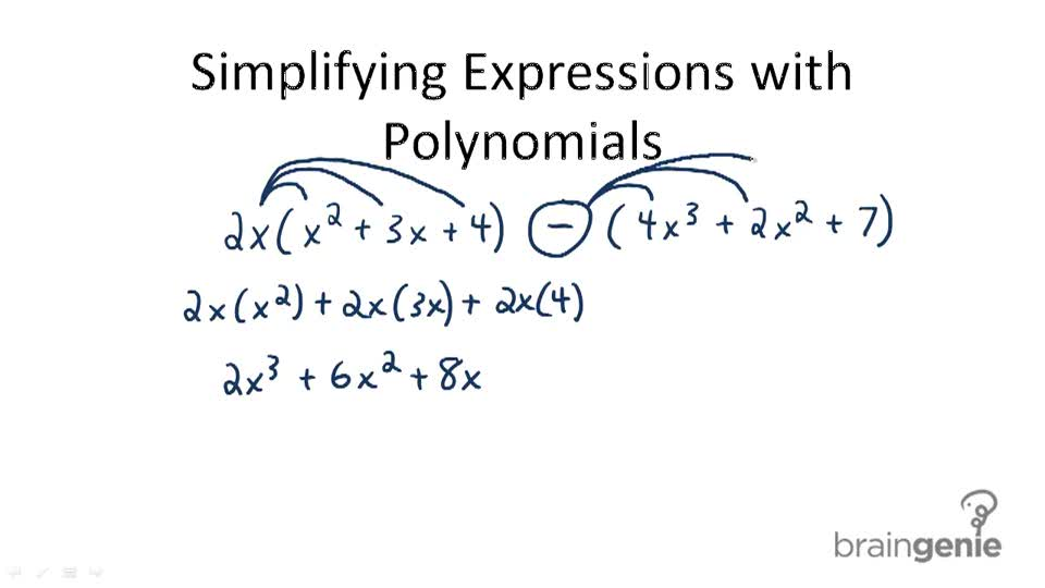 Simplifying Expressions with Polynomials - Overview