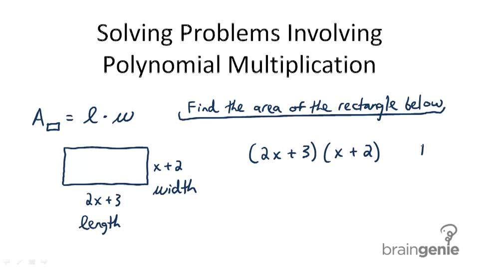 Solving Problems Involving Polynomial Multiplication - Overview