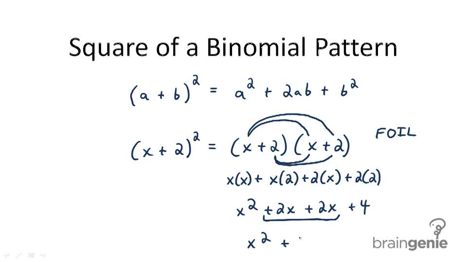 Special Products Of Polynomials Video Algebra Ck 12 Foundation