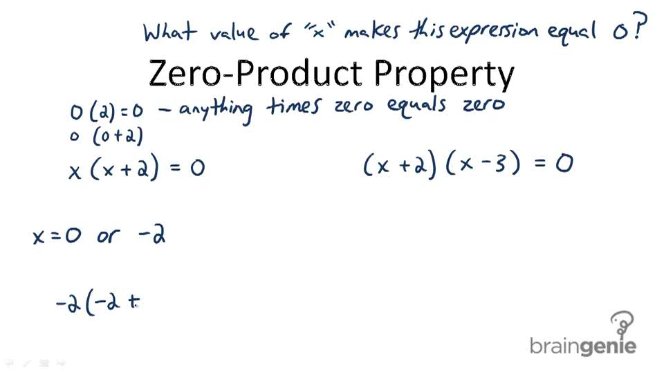Zero-Product Property - Overview