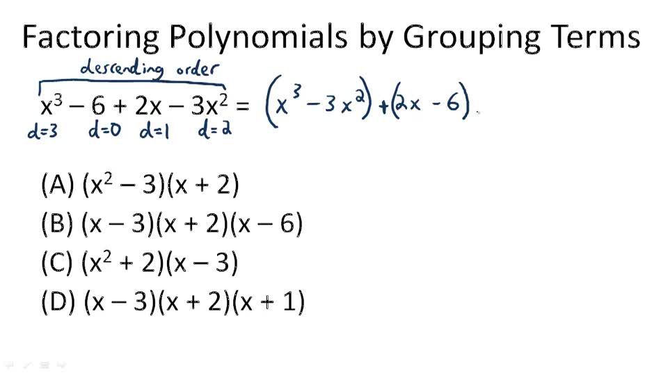 Factoring Polynomials by Grouping - Overview