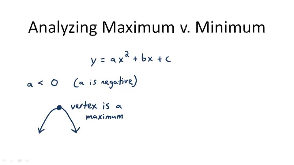 Analyzing Maximum v. Minimum - Overview