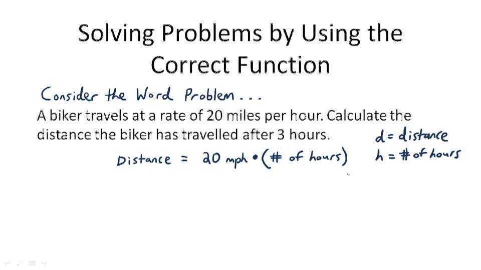 Solving Problems by Using the Correct Function - Overview