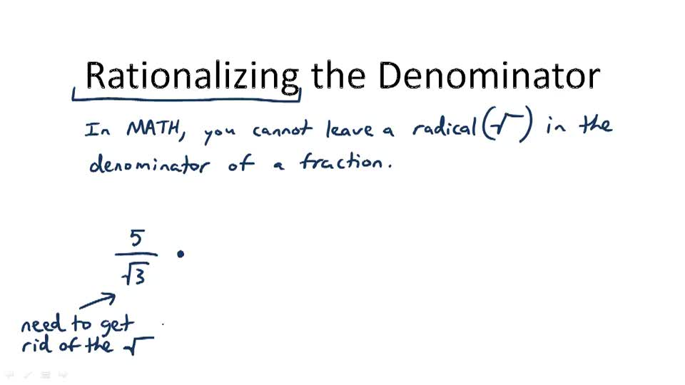 Rationalizing the Denominator - Overview
