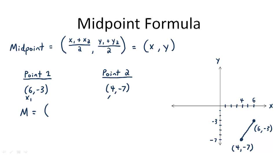 How To Find The Midpoint, Midpoint Formula Ck 12 ...