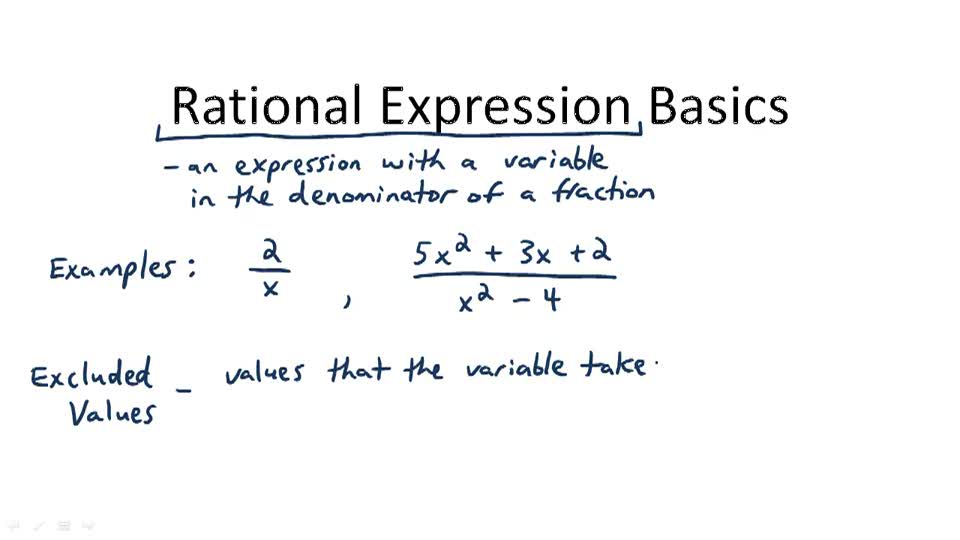 Rational Expression Basics - Overview