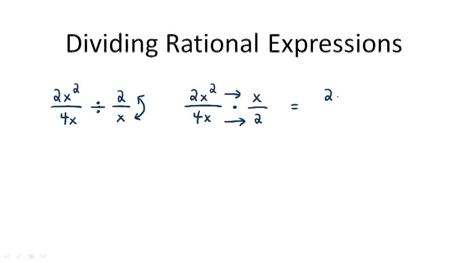 Dividing Rational Expressions - Overview
