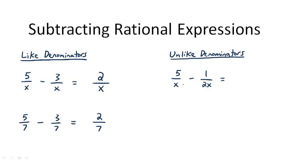 rational expressions In mathematics, a rational function is any function which can be defined by a rational fraction, ie an algebraic fraction such that both the numerator and the.