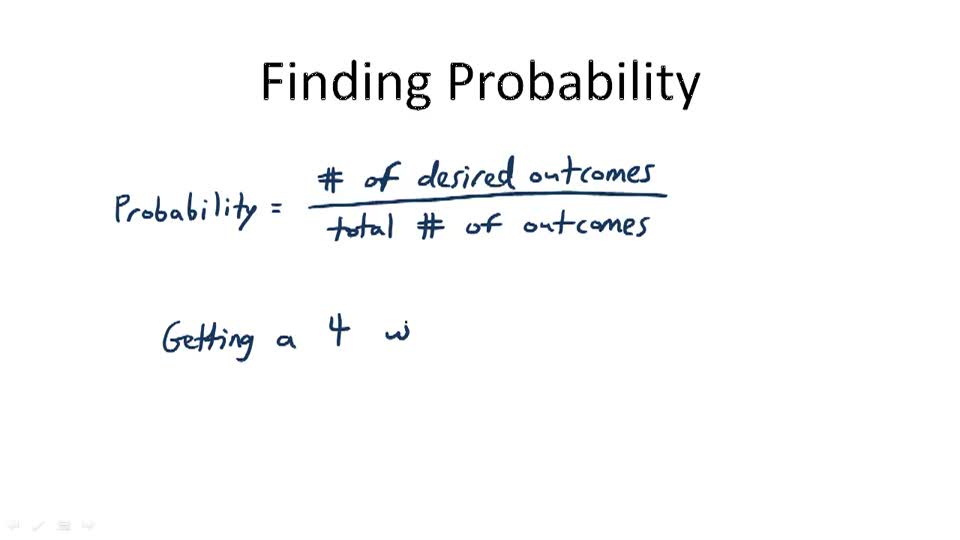 Finding Probability - Overview