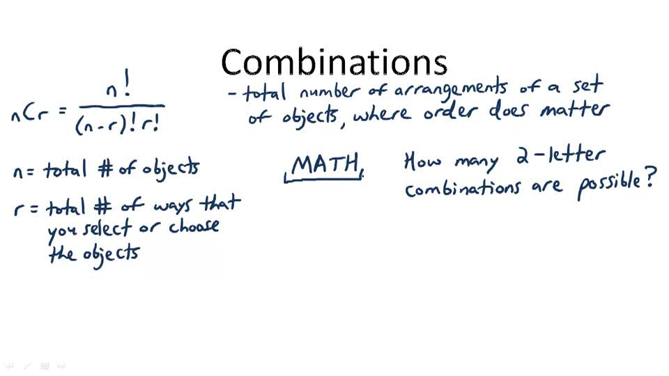 Combinations - Overview