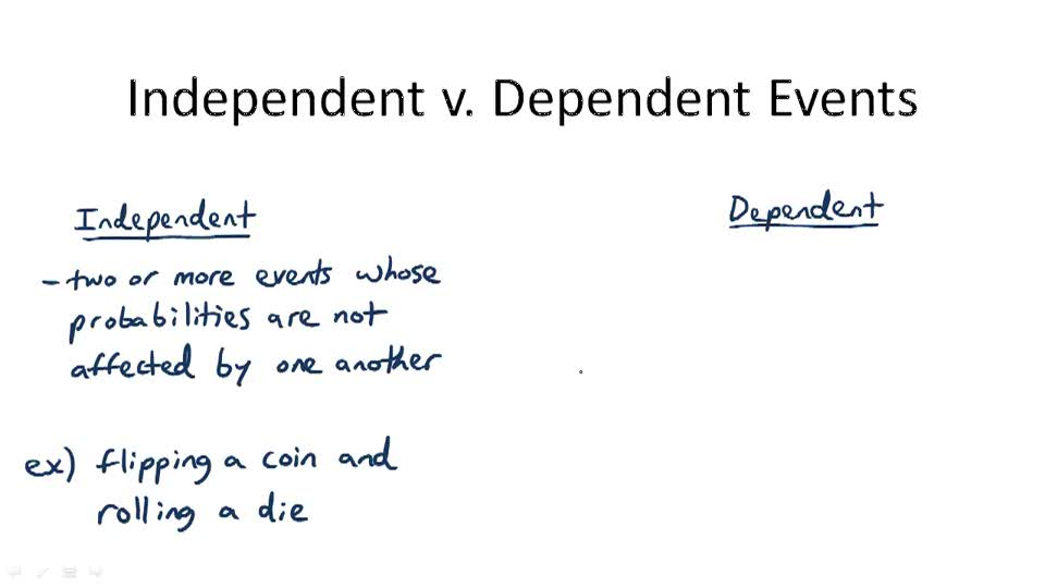 Independent v. Dependent Events - Overview