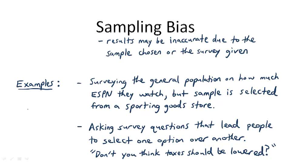 Sampling Bias - Overview