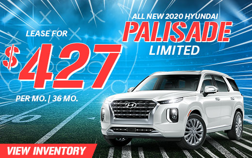 All New 2020 Hyundai Palisade - Lease for $427 Per Month for 36 months