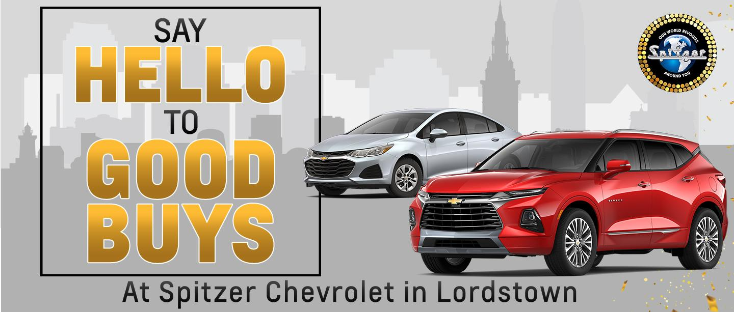 Say Hello To Good Buys at Spitzer Chevrolet in Lordstown