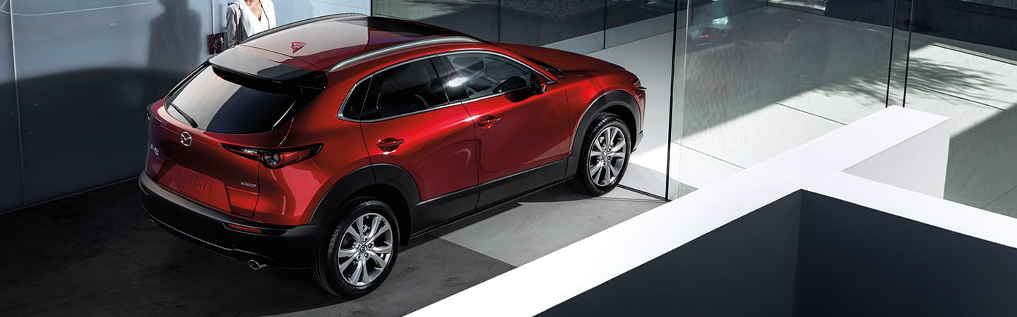 Overview of the 2020 Mazda CX-30 in motion outside of Naples Mazda