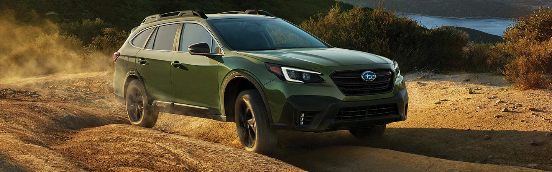 Green 2020 Subaru Outback exterior