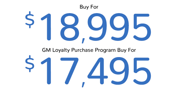 Malibu Buy For $18,995 | GM Loyalty Purchase Program Buy For $17,495