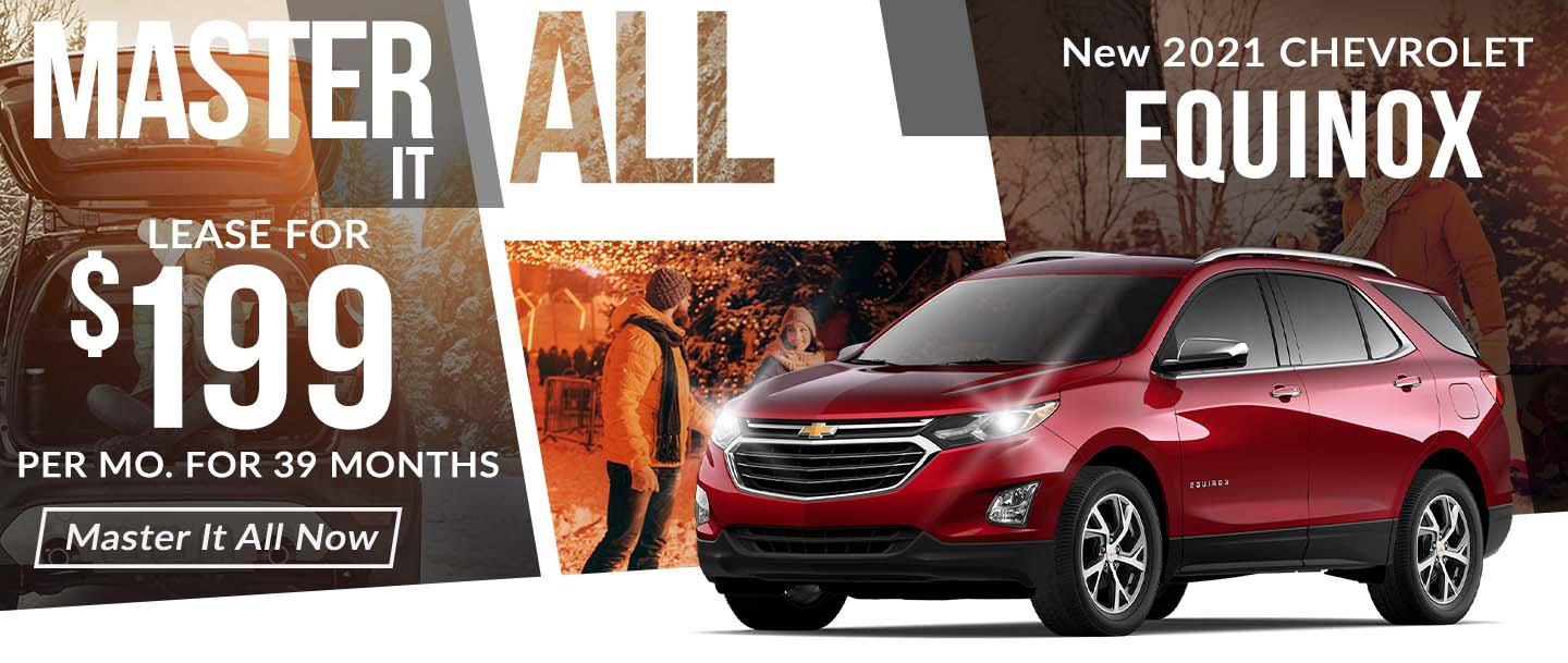 2021 CHEVROLET EQUINOX LT - LEASE FOR $199/MONTH FOR 39 MONTHS