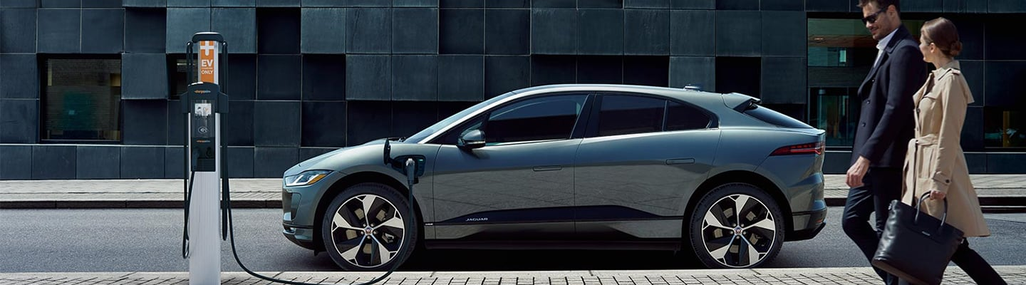 Side view of the 2020 Jaguar I-Pace charging