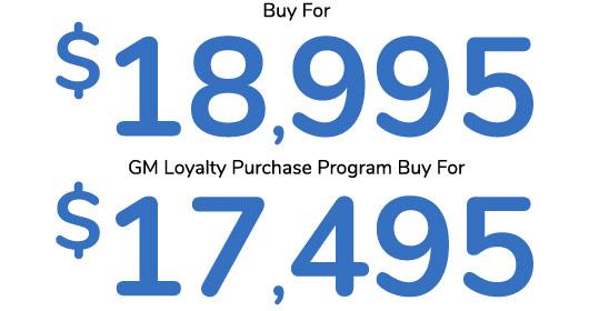 Malibu Buy for $18,995 | GM Loyalty $17,495