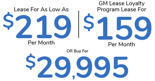 Silverado Lease for $219 per month | $159 per month | Buy for $29,995