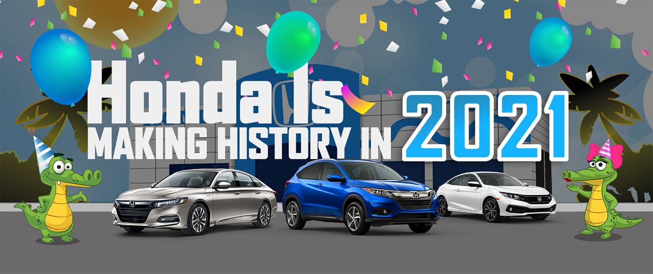 Honda Is Making History 2021 Sale banner