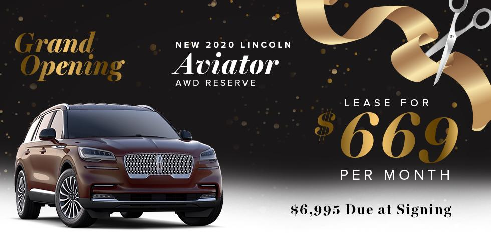 NEW 2020 Lincoln Aviator RWD Reserve - Lease for $669 Per Month