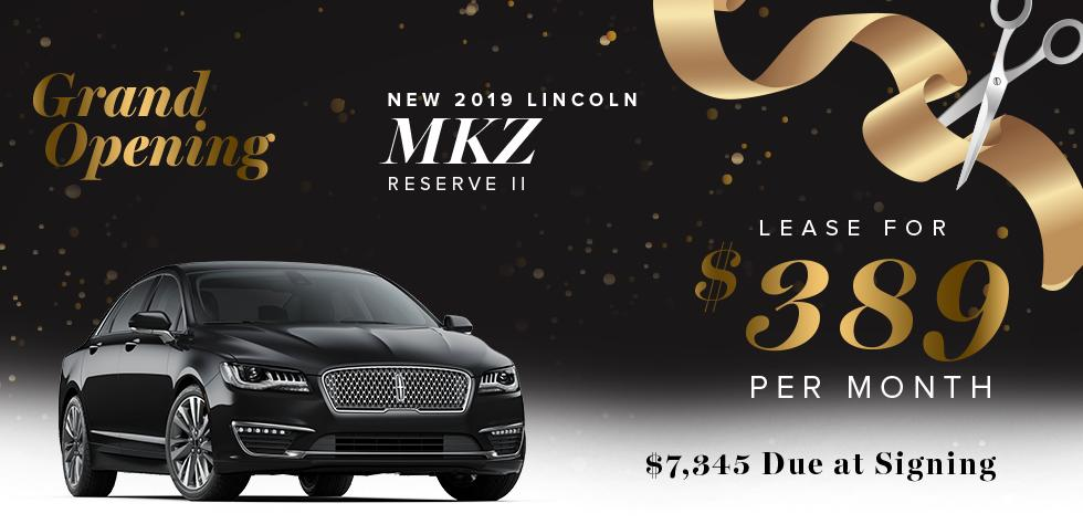 NEW 2019 Lincoln MKZ Reserve II -Lease for $389 Per Month