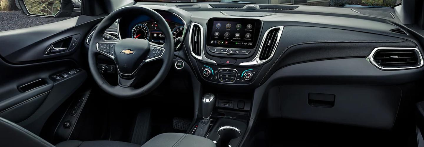 Interior view of the 2021 Chevy Equinox
