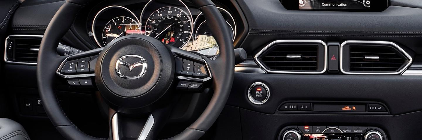 CX-5 dash view