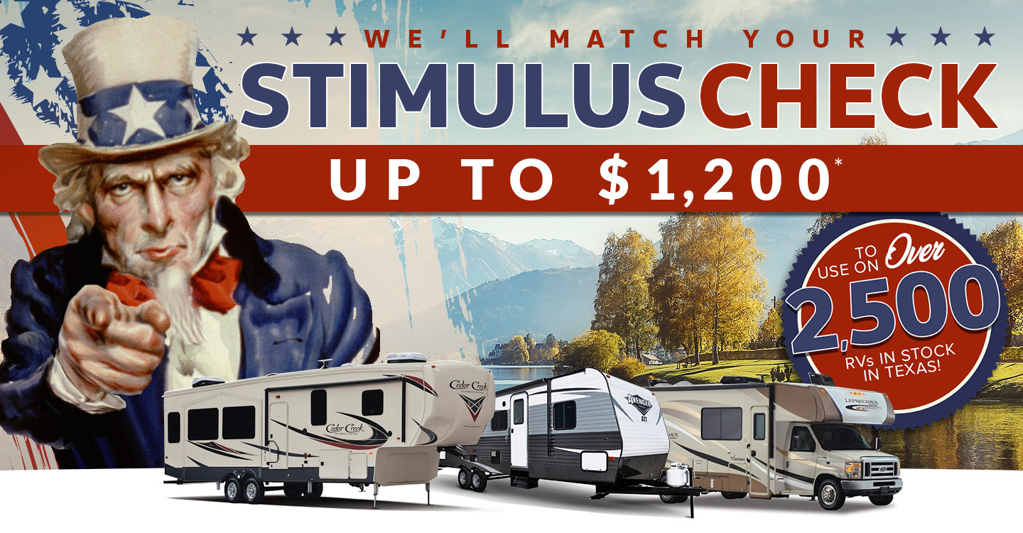 We'll match your stimulus check up to $1,200