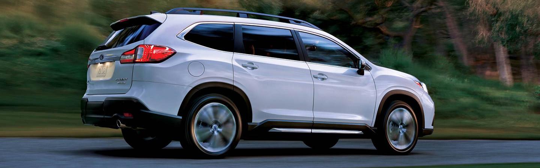 White 2020 Subaru Ascent in motion