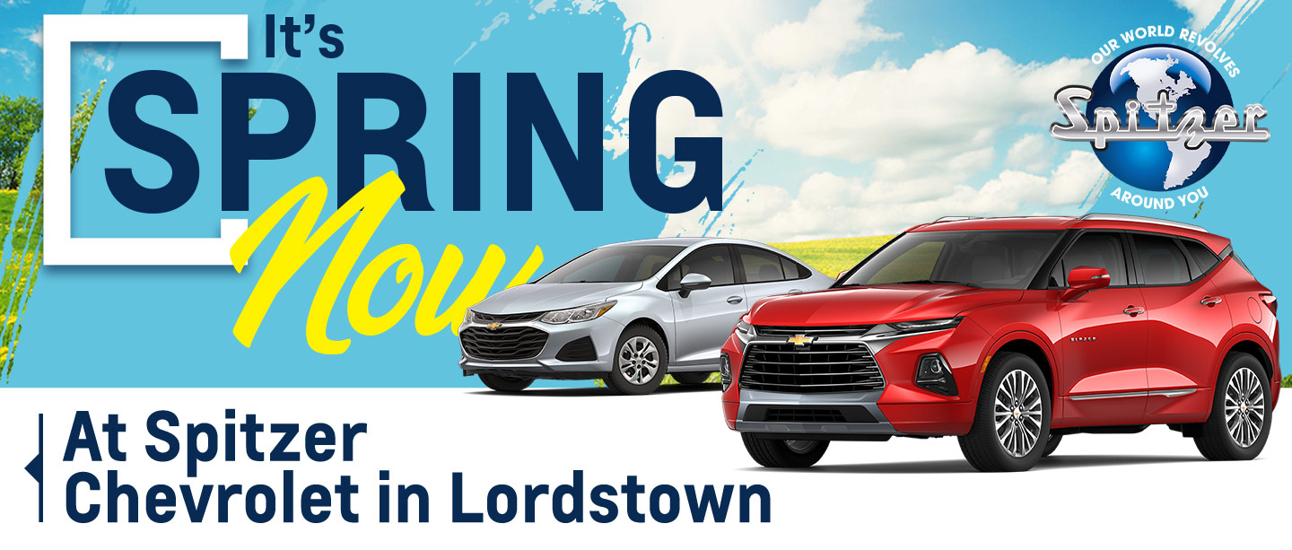 I's Spring Now at Spitzer Chevrolet in Lordstown
