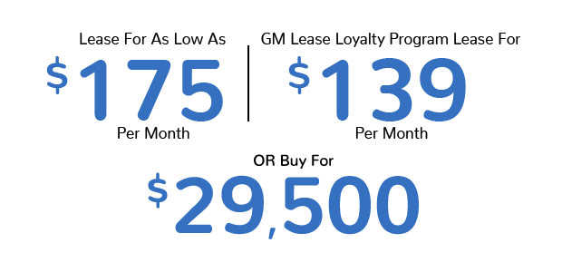 Lease For As Low As $175 Per Month | GM Lease Loyalty Program Lease For $139 Per Month Or Buy for $29,500