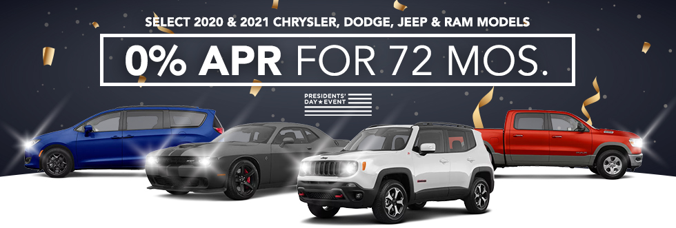 Remaining Select 2020 Models  - 0% APR for 72 Months